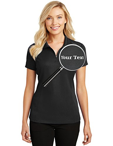 Custom Embroidered Shirts for Ladies - Quarter Zip Personalized Embroidery Polos