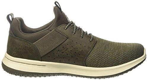Verde Delson Camben Uomo Sneaker Olive Skechers 7Y1wgq1