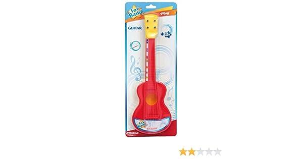 Bontempi-20 Guitarra española con 4 Cuerdas de Nylon, Color Rojo ...