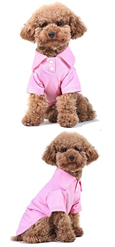 Party Costume And Display Seattle (GohEunGyung shop【Pink M】Pet Puppy Summer Shirt Small Dog Cat Pet Clothes Costume Apparel T-Shirt)
