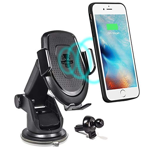 Car Cell Phone Wireless Charger Stand - for Vehicle Dashboard and Air Vent - 10W Fast Charging Dock - Compatible w/iPhone Xs|XS MAX|XR|X|8|8P / Samsung Galaxy S10/+|S9/+|S8/+, All QI Enabled Devices (Station Docking Car Phone)