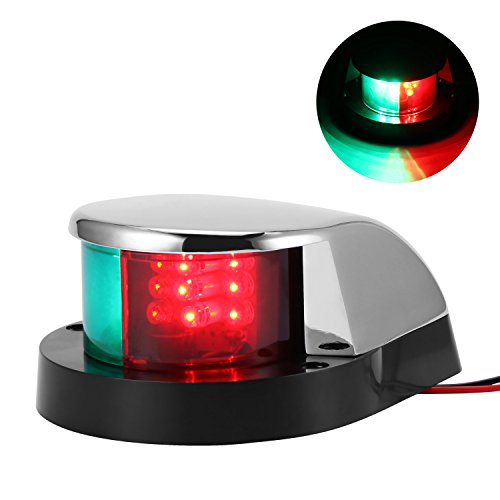 Stainless Bow - DDSKY Marine Boat LED Light 12V Stainless Steel Marine Boat Navigation Lamp LED IP65 Waterproof Bow Sailing Signal Lights for Boat Pontoon Starboard Skeeter Yacht (Red and Green)