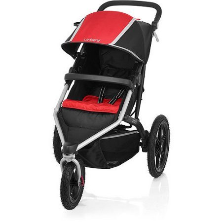 Urbini Avi Jogger Red Jogging Stroller All-Terrain Performance Stroller with 2 Position Canopy