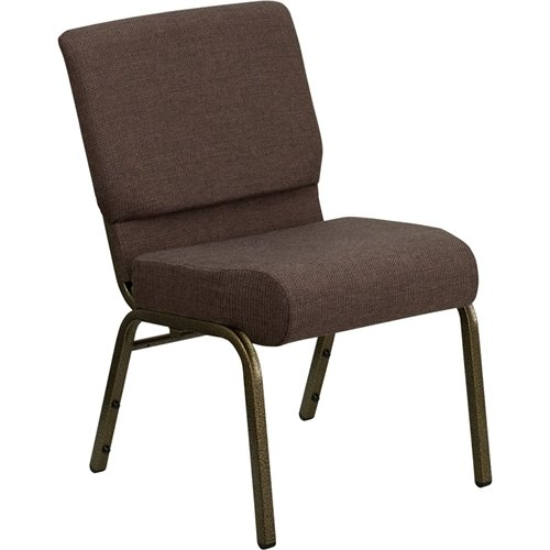 Hercules Church Chair (Flash Furniture FD-CH0221-4-GV-S0819-GG Hercules Series 21-Inch Extra Wide Brown Stacking Church Chair with 4-Inch Thick Seat/Gold Vein)