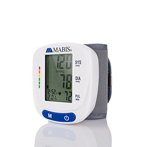 Blood Pressure Monitor Wrist Cuff - MABIS Digital Portable Wireless Blood Pressure Gauge Kit Monitors for Pulse, Irregular Heartbeat, and High & Low Blood Pressure (Kit Pressure)