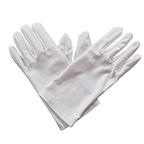 Gents Gloves - WHITE Fancy Dress Accessory]()