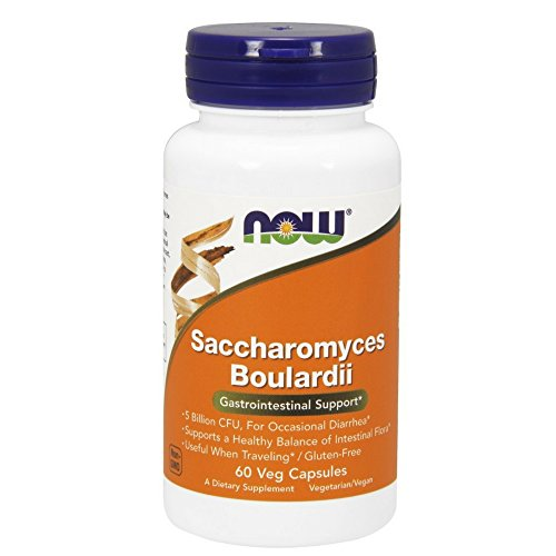NOW Saccharomyces Boulardii,60 Veg Capsules For Sale