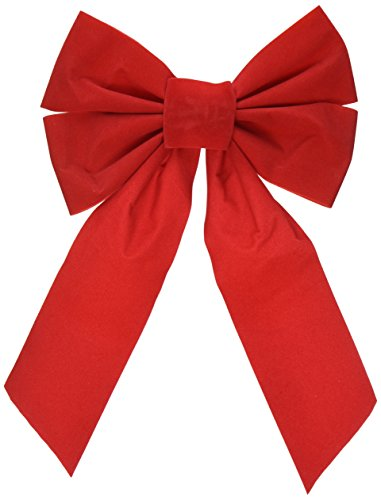 Good Old Values Red Velvet Christmas Bow 9-inch X 16-inch 4 Pack of Holiday Bows