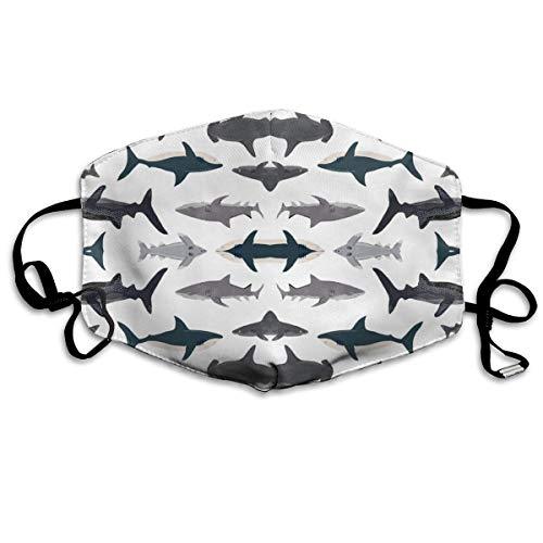 (Shark Sharks Nautical Boys Face Masks Breathable Dust Filter Masks Mouth Cover Masks with Elastic Ear Loop )