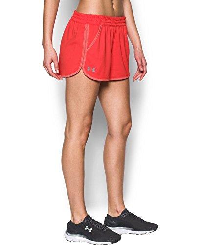 Under Armour Women's Tech Twist Short, Pomegranate/Pomegranate, (Pomegranate Twist)