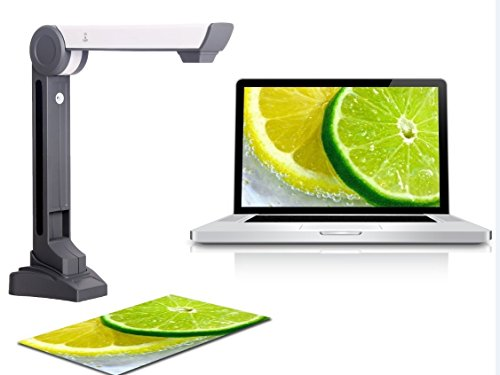 Emperor of Gadgets Color Document Scanner for Converting Documents and Photos (papers, books, pictures, government forms, etc.) into Digital Files - 5MP HD OCR Document Camera / Photo Scanner by Emperor of Gadgets