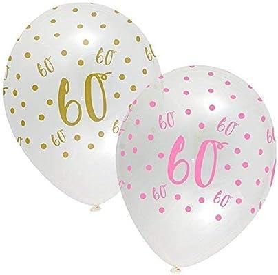 CREATIVE PARTY Rosa Chic Feliz 60 Cumpleaños Globos Látex ...