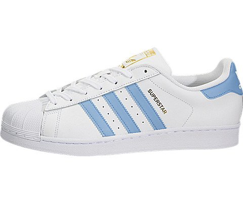 adidas Mens Superstar Foundation White Blue Leather Trainers 8.5 US