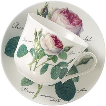Roy Kirkham Redoute Rose Jumbo Breakfast Cup & Saucer Set