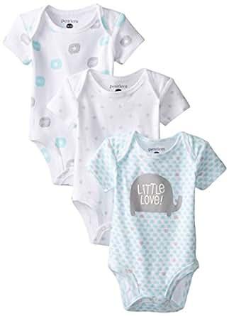 Amazon.com: Petit Lem Baby-Boys Newborn 3 Pack Bodysuits ...