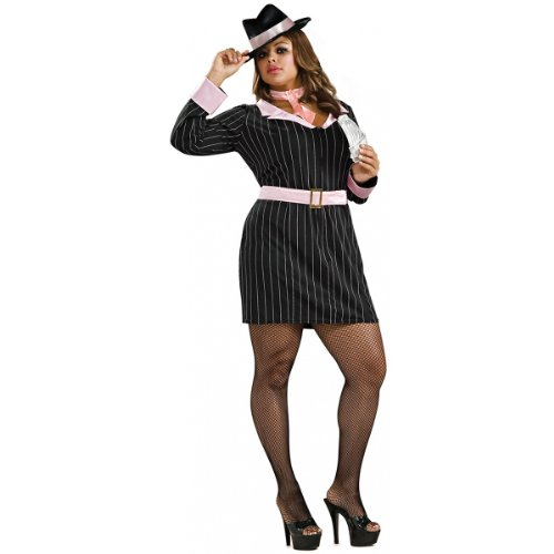 Gangster Moll Plus Costumes (Gun Moll Costume - Plus Size - Dress Size 16-22)