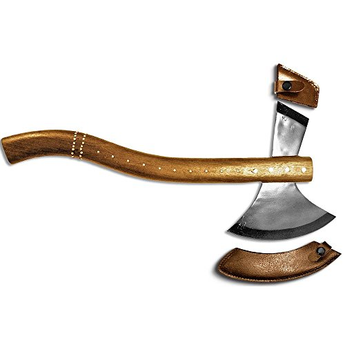 AXE-08 22'' Full Functional Wooden Handle Axe with Leather Sheath by Bone Collector