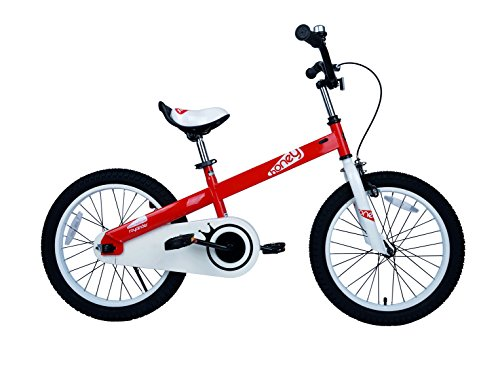 "RoyalBaby CubeTube Honey 16"" Bicycle for Kids, Red"
