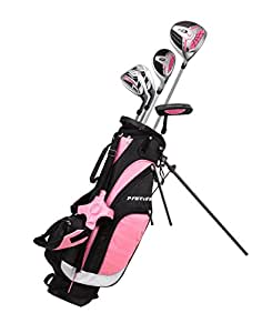 Amazon.com : Remarkable Girls Right Handed Pink Junior Golf Club Set for Age 9 to 12 (Height 4'4