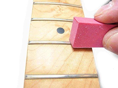 bangdan Fret Polishing rubber erasers, 180/400 Grit 2 pcs