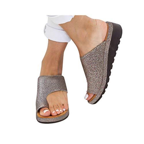 - Dressin Women's Sandals 2019 Women Comfy Platform Sandal Shoes Summer Beach Travel Shoes Fashion Sandal Slipper Flip Flop Gold