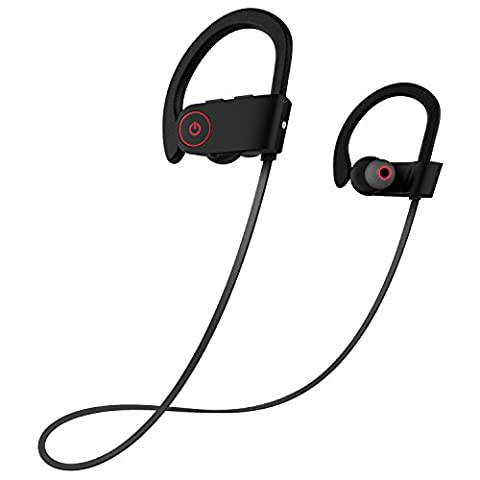 Bluetooth Headphones, Otium Wireless Sports Earphones w/ Mic IPX7 Waterproof HD Stereo Sweatproof In Ear Earbuds for Gym Running Workout 8 Hour Battery Noise Cancelling (Armband Music Player)