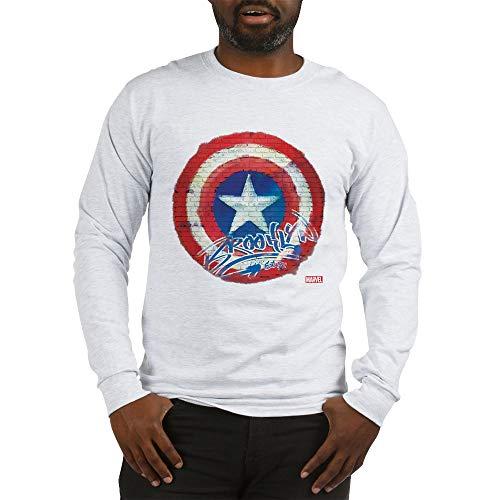 f052d272 ... CafePress Captain America Graffiti Shiel Long Sleeve T Shirt Unisex  Cotton Long Sleeve T-Shirt