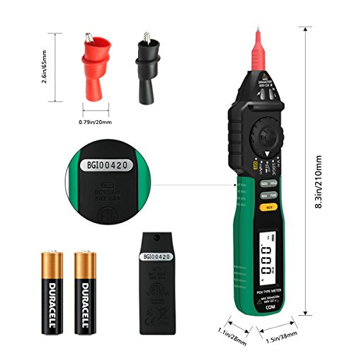 Digital Multimeter, LIUMY Pocket size Pen Multimeter with NCV and Auto Ranging, AC DC Voltage Tester, Electrical Tester, Current/ Diode/ Continuity/ Logic by LIUMY (Image #7)