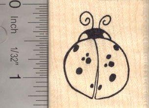 Ladybug Rubber Stamp Ladybird