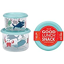 Sugarbooger Good Lunch Small Snack Container, Ocean, 2 Count