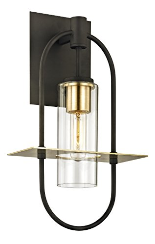 Troy Lighting Outdoor Lamp (Troy Lighting B6392 Smyth Outdoor Wall Sconce, Medium, Dark Bronze)