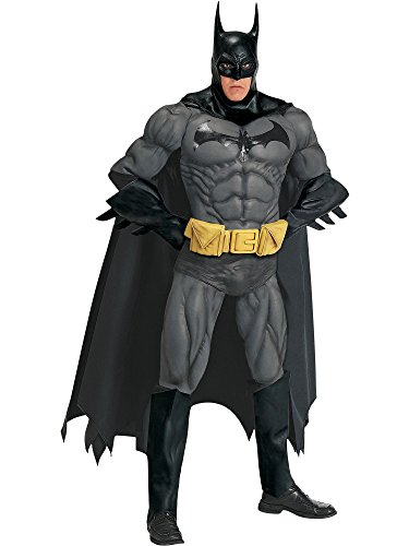 Batman Costumes Collectors Adult Edition (Rubie's Costume Co Men's DC Comics Collector Batman Costume, Black, One)