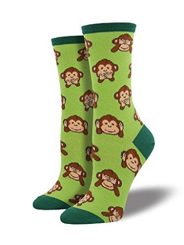 Socksmith Women's Monkey Lime Sock