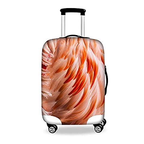 HUGSIDEA 22/24/26 Inch Thicken Durable Travel Suitcase Luggage Cover (Coral Feather) - Apple Coral Handle