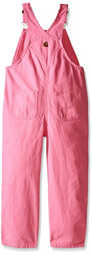 Carhartt Little Girls' Washed Microsanded Canvas Bib Overall Toddler, Pink, 3T by Carhartt (Image #2)