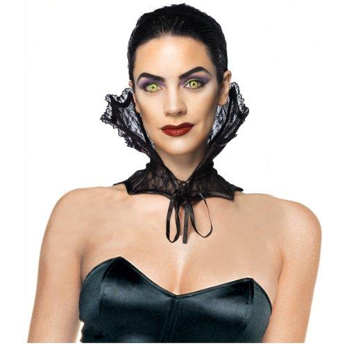 Leg Avenue Lace Corset Collar Costume Accessory, Black, One (Sparkle Lace Corset)