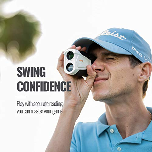ACPOTEL Golf Rangefinder, 650 Yards Golf Rangefinder with Slope, Laser Rangefinder with 4 Modes (Slope Adjust/Flag Lock/Speed/Distance), 6X Magnification Golf Laser Rangefinder, Accurate/Easy to Use