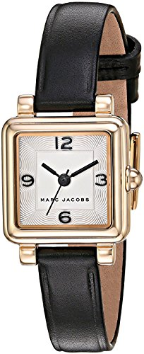 Marc Jacobs Women's 'Vic' Quartz Stainless Steel and Leather Casual Watch, Color:Black (Model: - Watches Marc Women Jacobs Black