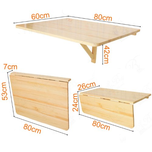 Sobuy mesa de cocina mesa de madera mesa plegable de for Mesa plegable de pared