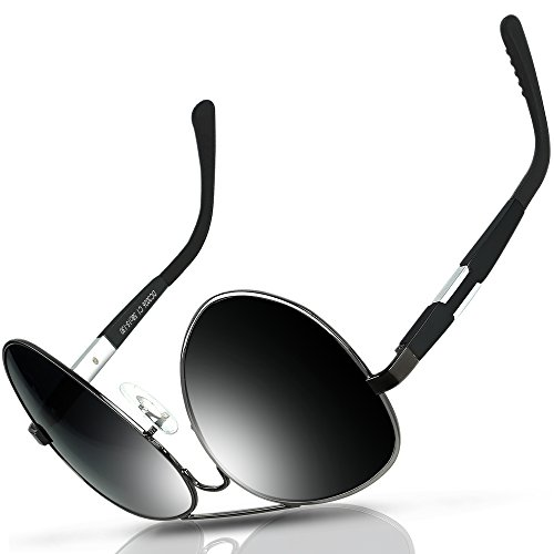 c8abd1efd5 DUCO Premium Aviator Style Polarized Sunglasses 100% UV protection 3026