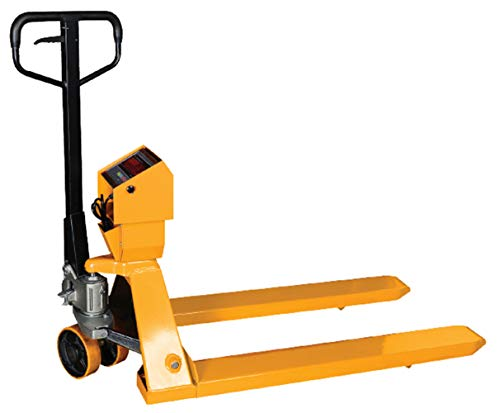 PEC Pallet Jack Scale for Warehouse Loading and Weighing, 5000lb Capacity Heavy-Duty Hand Pallet Truck