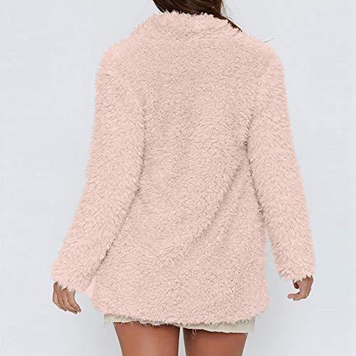 Eleganti In Unita Inverno Lungo Cappotto Outwear Abiti Casual Giacca Rcool Tinta Lana Caldo Giacca Pink Sexy Lana Cardigan Lunga Ragazza Da Donna Cappotto Cardigan zddw74qT