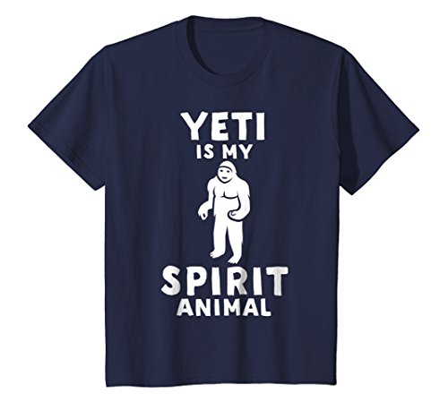 Price comparison product image Kids Yeti Is My Spirit Animal - Funny Yeti T-Shirt 10 Navy