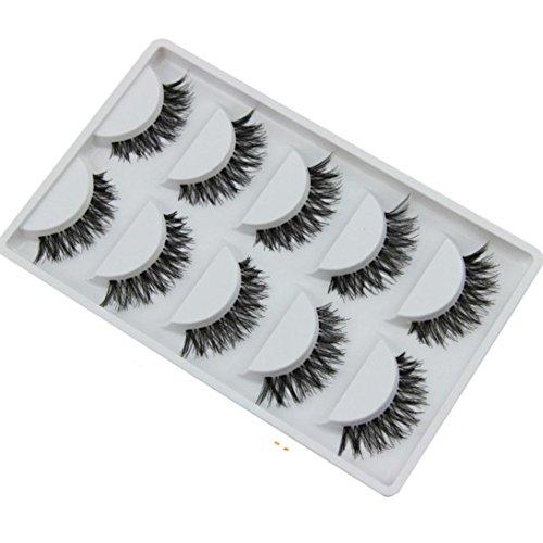 HOT eye lashes!ABC® 5 Pair/Lot Crisscross False Eyelashes Voluminous Lashes