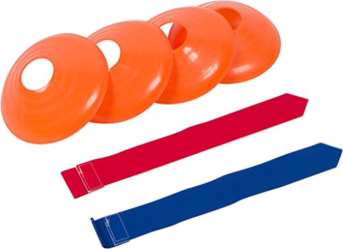 Trademark Innovations Flag Football Premium Set - for 10 Man Team (Red and Blue)