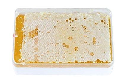 Miel de panal ImkerPur® en miel de acacia altamente aromática (2017 añada), 400 g, en caja fresca de alta calidad y apta para alimentos.