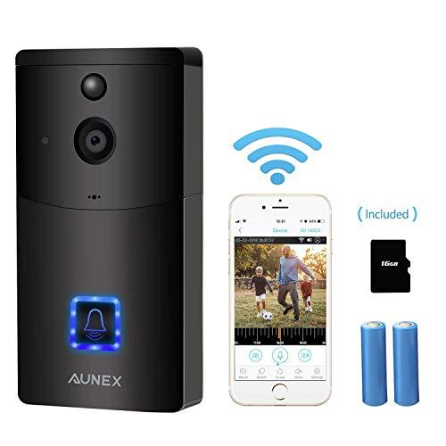 AUNEX Video doorbell, Black