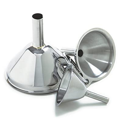 Norpro 3-Piece Stainless Steel Funnel Set (2 Pack) (1, 2) from Norpro