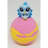 "(1) Bath Bomb with (1) Littlest Pet Shop LPS Mini Figures 2.5"" Bath Bomb Cotton Candy Fragrance"