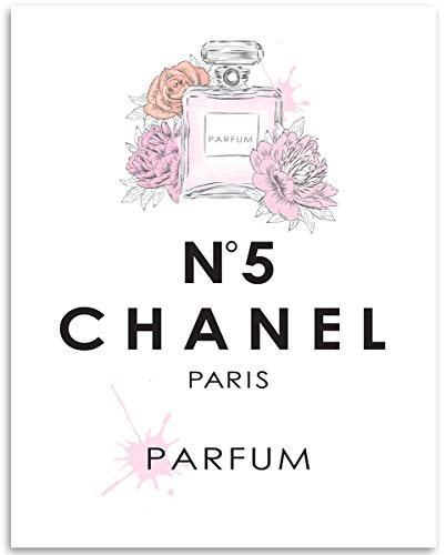 (Chanel No 5 Parfum - 11x14 Unframed Art Print - Makes a Great Dressing Room Decor Under)